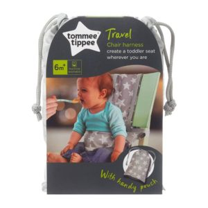 TOMMEE TIPPEE CHAIR HARNESS GREY STARS 591025 1 X 8